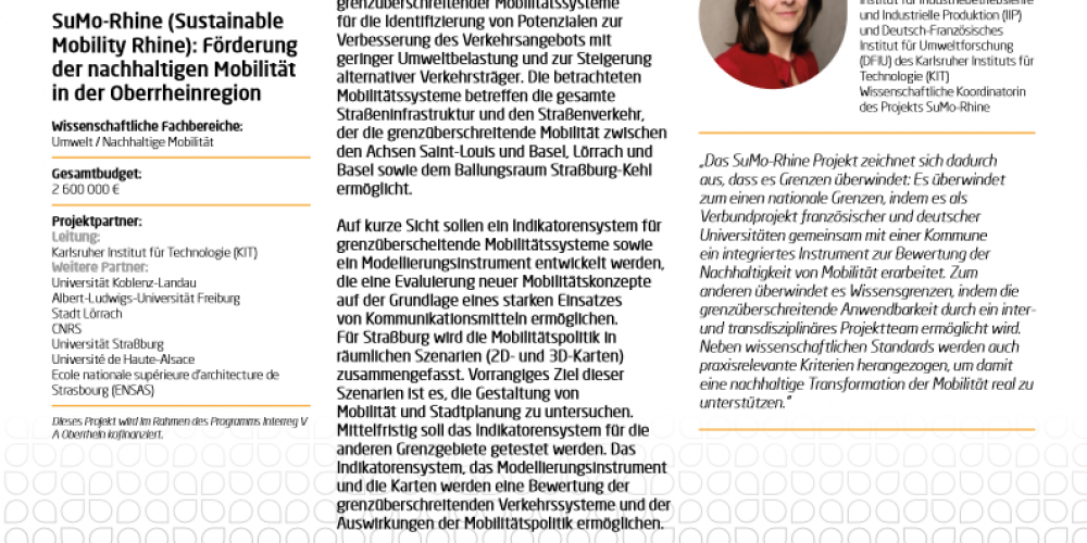 Article in the new brochure of the Coordination Office of the Science Pillar