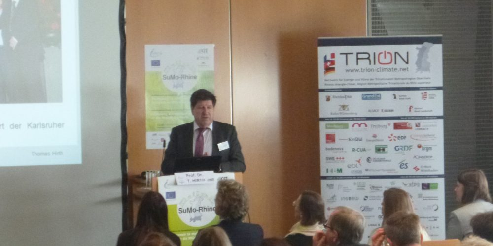 SuMo-Rhine, Conférence de lancement du projet Interreg V Sustainable Mobility Rhine 12 mars 2019, Regierungspräsidium Karlsruhe