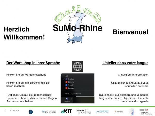 Atelier en ligne : « Perspectives communales pour favoriser la mobilité durable dans la région du Rhin supérieur »