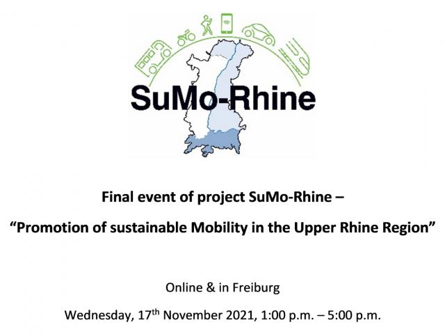 Réservez la date – La manifestation de clôture du projet SuMo-Rhine aura lieu le 17 novembre 2021
