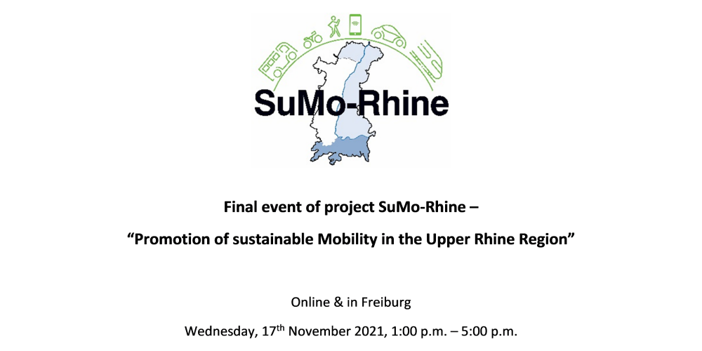 Save the date – the final event of the SuMo-Rhine project on the 17th of November 2021